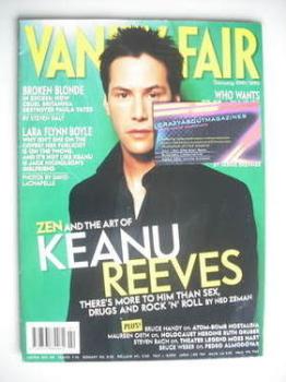 Vanity Fair magazine - Keanu Reeves cover (February 2001)