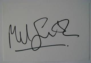 Mel Smith autograph