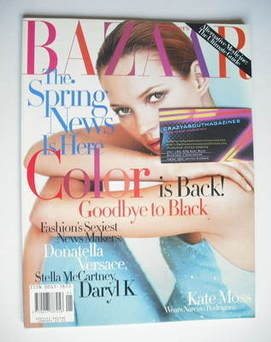 <!--1998-01-->Harper's Bazaar magazine - January 1998 - Kate Moss cover