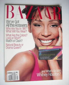 Harper's Bazaar magazine - January 1996 - Whitney Houston cover