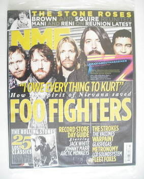 <!--2011-04-16-->NME magazine - Foo Fighters cover (16 April 2011)