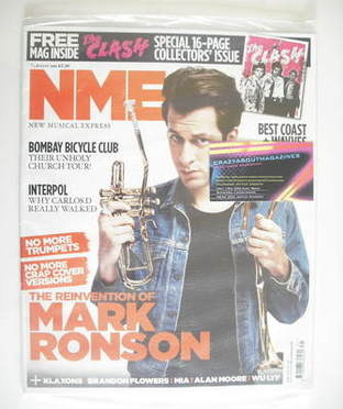 <!--2010-08-07-->NME magazine - Mark Ronson cover (7 August 2010)