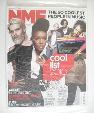 <!--2010-10-23-->NME magazine - Cool List 2010 cover (23 October 2010)