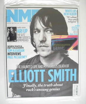 <!--2010-10-30-->NME magazine - Elliott Smith cover (30 October 2010)