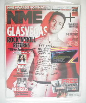 <!--2011-01-29-->NME magazine - Glasvegas cover (29 January 2011)