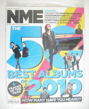 <!--2010-12-04-->NME magazine - The 50 Best Albums of 2010 cover (4 Decembe