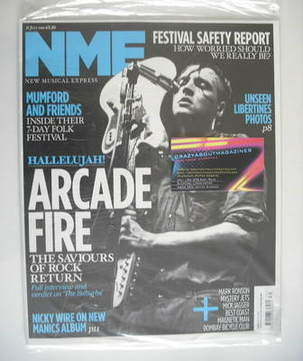 <!--2010-07-31-->NME magazine - Arcade Fire cover (31 July 2010)