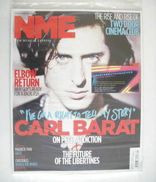 <!--2010-09-25-->NME magazine - Carl Barat cover (25 September 2010)