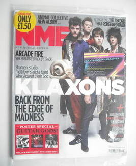 <!--2010-07-24-->NME magazine - Klaxons cover (24 July 2010)
