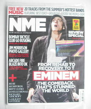 <!--2010-07-17-->NME magazine - Eminem cover (17 July 2010)