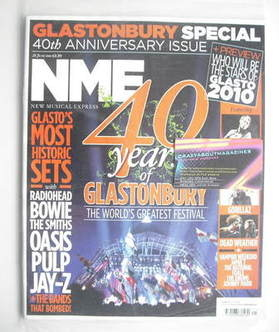 <!--2010-06-26-->NME magazine - 40 Years Of Glastonbury cover (26 June 2010
