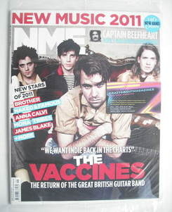 <!--2011-01-08-->NME magazine - The Vaccines cover (8 January 2011)