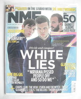 <!--2011-01-22-->NME magazine - White Lies cover (22 January 2011)