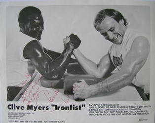 Clive Myers autograph