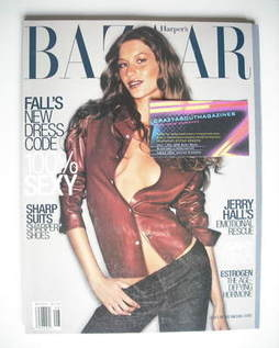 <!--1999-08-->Harper's Bazaar magazine - August 1999 - Gisele Bundchen cove