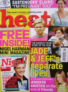 <!--2004-05-22-->Heat magazine - Jade Goody and Jeff Brazier cover (22-28 M