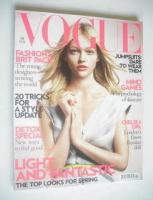 <!--2008-02-->British Vogue magazine - February 2008 - Sasha Pivovarova cover