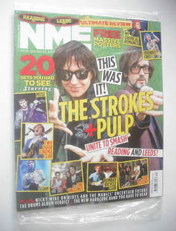 <!--2011-09-03-->NME magazine - The Strokes And Pulp cover (3 September 201