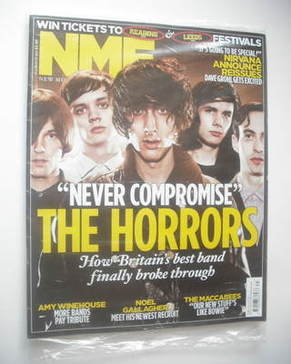 <!--2011-08-06-->NME magazine - The Horrors cover (6 August 2011)