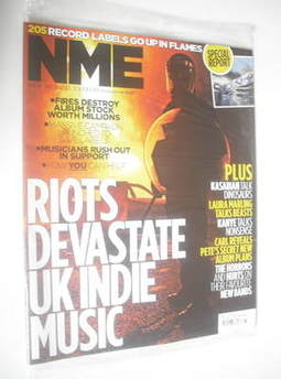 <!--2011-08-20-->NME magazine - Riots Devastate UK Indie Music cover (20 Au