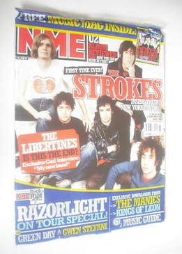 <!--2004-11-13-->NME magazine - The Strokes cover (13 November 2004)