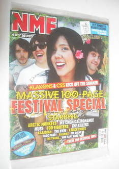 NME magazine - Festival Special cover (26 May 2007)