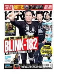 <!--2011-10-01-->Kerrang magazine - Blink 182 cover (1 October 2011 - Issue