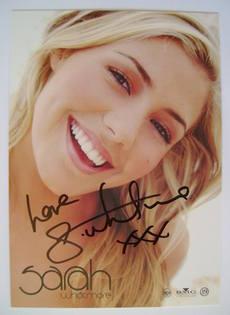 Sarah Whatmore autograph