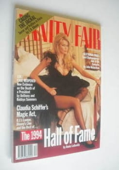 Vanity Fair magazine - Claudia Schiffer cover (December 1994)