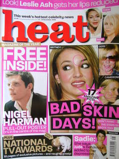 Heat magazine - Bad Skin Days! cover (8-14 November 2003 - Issue 244)