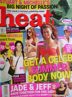 <!--2004-06-12-->Heat magazine - Get A Celeb Summer Body Now! cover (12-18