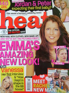 <!--2004-07-03-->Heat magazine - Emma Greenwood cover (3-9 July 2004 - Issu