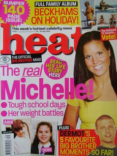 <!--2004-07-24-->Heat magazine - Michelle Bass cover (24-30 July 2004 - Iss