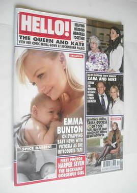 <!--2011-08-01-->Hello! magazine - Emma Bunton cover (1 August 2011 - Issue
