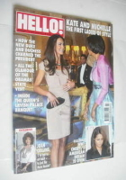 <!--2011-06-06-->Hello! magazine - Kate Middleton and Michelle Obama cover (6 June 2011 - Issue 1177)