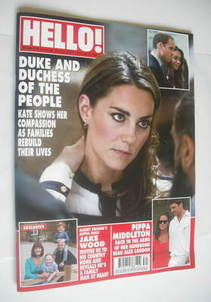 <!--2011-08-29-->Hello! magazine - Kate Middleton cover (29 August 2011 - I