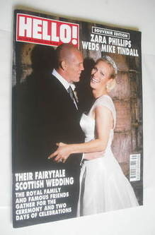 <!--2011-08-08-->Hello! magazine - Zara Phillips and Mike Tindall wedding c