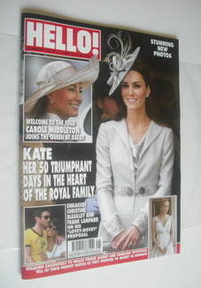 <!--2011-06-27-->Hello! magazine - Kate Middleton cover (27 June 2011 - Iss