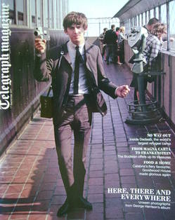 <!--2011-09-17-->Telegraph magazine - George Harrison cover (17 September 2