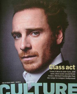 <!--2011-09-18-->Culture magazine - Michael Fassbender cover (18 September