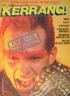 <!--1985-08-22-->Kerrang magazine - Jim Lyttle cover (22 August - 4 Septemb