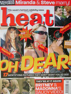 <!--2003-11-01-->Heat magazine - Oh Dear! cover (1-7 November 2003 - Issue