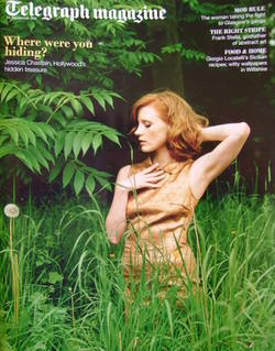 <!--2011-09-24-->Telegraph magazine - Jessica Chastain cover (24 September