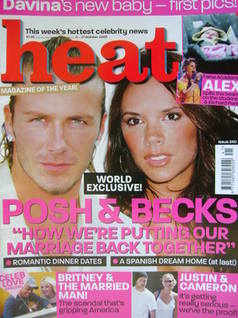 <!--2003-10-11-->Heat magazine - David and Victoria Beckham cover (11-17 Oc