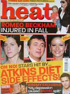 Heat magazine - Atkins Diet Side Effects! cover (27 September - 3 October 2003 - Issue 238)