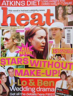 Heat magazine - Stars Without Make-Up! cover (20-26 September 2003 - Issue 237)