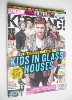 <!--2011-09-17-->Kerrang magazine - Kids In Glass Houses cover (17 Septembe