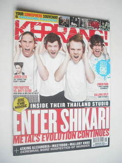 <!--2011-07-16-->Kerrang magazine - Enter Shikari cover (16 July 2011 - Iss