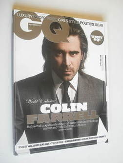 <!--2008-04-->British GQ magazine - April 2008 - Colin Farrell cover
