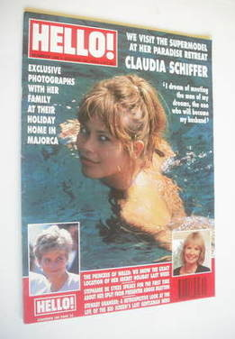 <!--1993-08-28-->Hello! magazine - Claudia Schiffer cover (28 August 1993 -